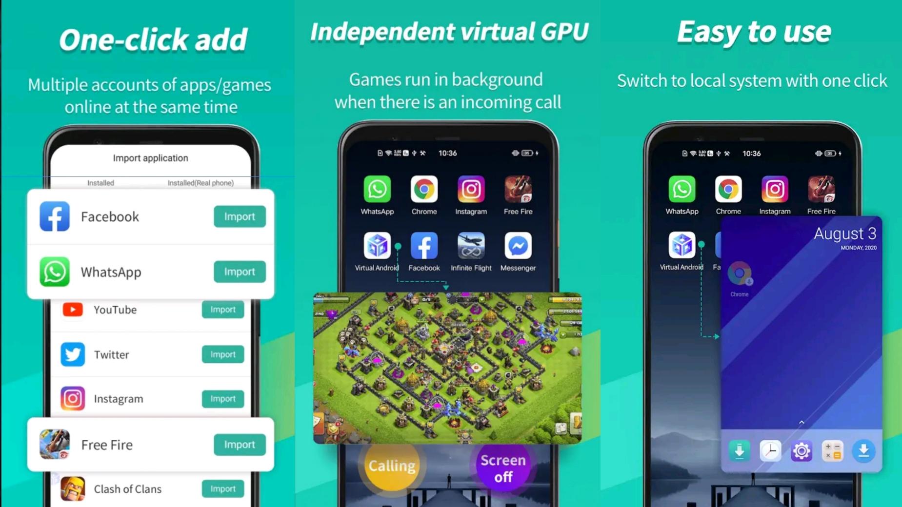 تحميل برنامج Virtual Android