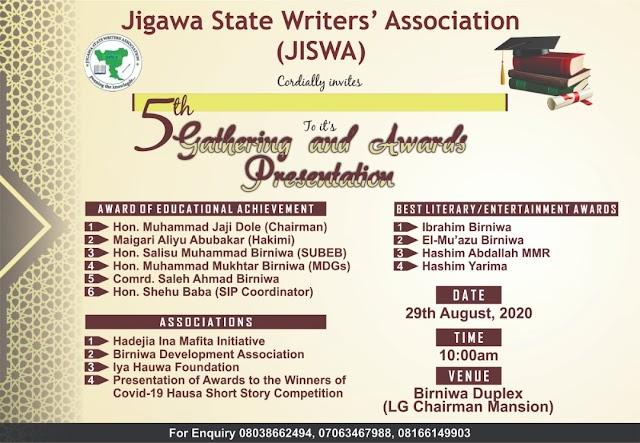 JISWA: Kungiyar Marubutan Jigawa Za Ta Gudanar Da Babban Taro A Birniwa