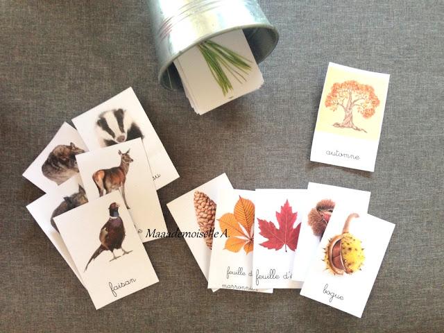|| Table des saisons : L'automne - Cartes de nomenclature