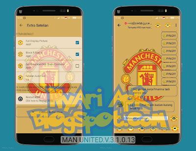 Download BBM Mod Manchester United Versi 3.1.0.13 Apk Terbaru