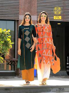 Aradhna pk Sparkle rayon Daily wear kurtis wholesaler