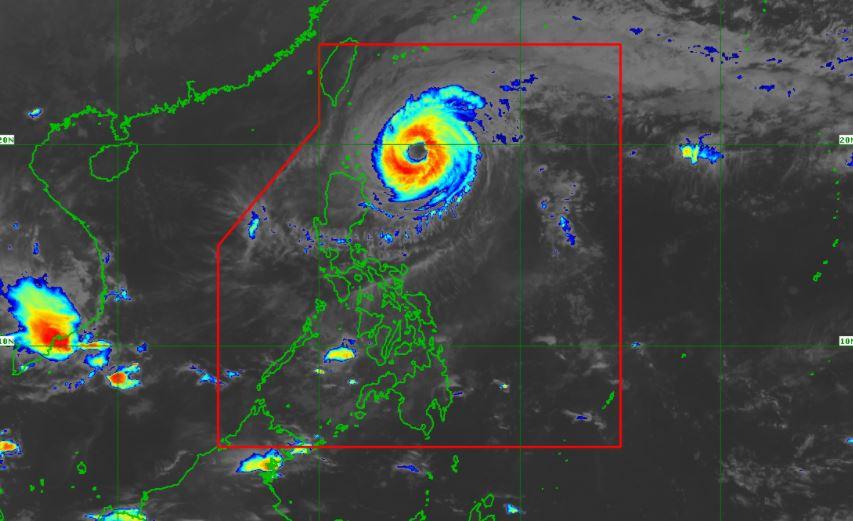Satellite image of Typhoon 'Bising' as of 6:50 am, April 22, 2021