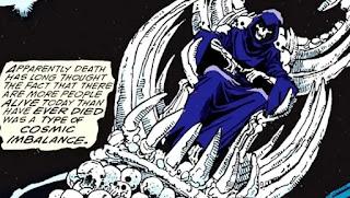 La mort apparaît sous une apparence classique dans The Infinity Gauntlet