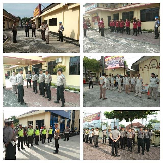 Personil Polres Tanjung Balai Melaksanakan Apel Fungsi