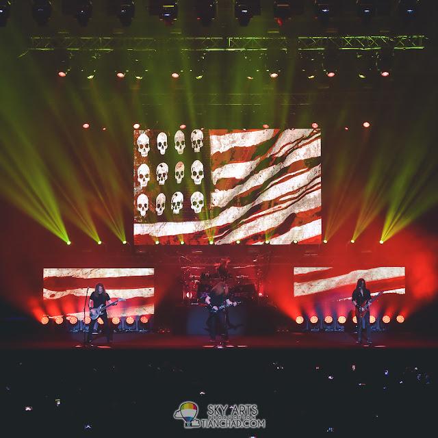 MEGADETH LIVE IN MALAYSIA 2017 Dave Mustaine Kiko Loureiro David Ellefson Dirk Verbeuren