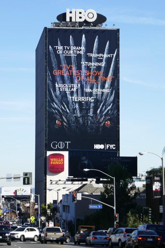 Giant Game of Thrones winter 2019 HBO FYC billboard