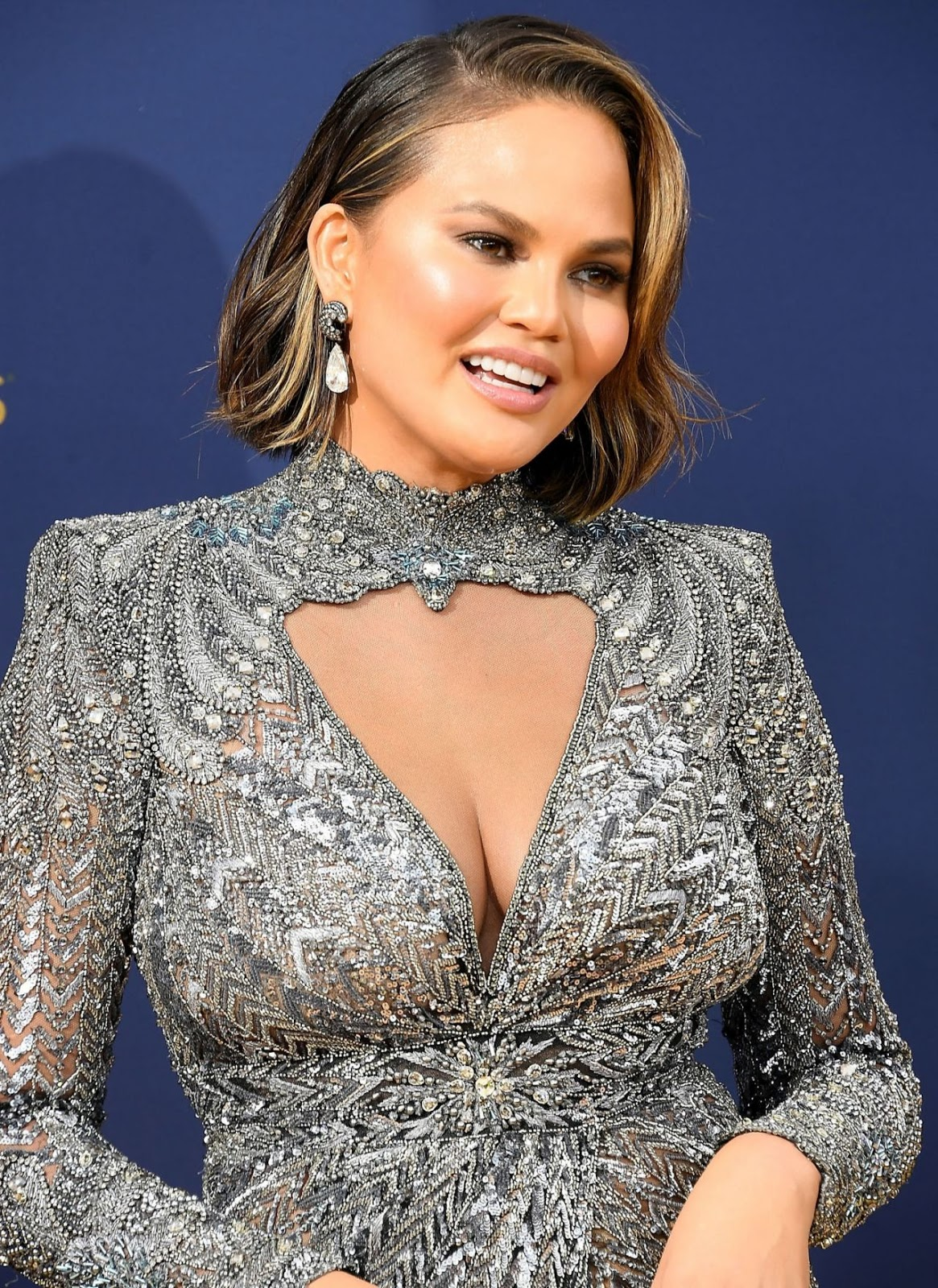 Chrissy Teigen – 70th Emmy Awards at Microsoft Theater in Los Angeles