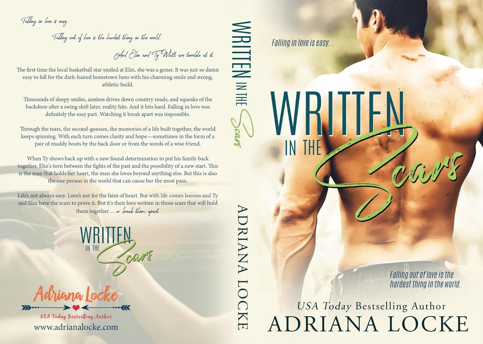 Borító leleplező: Adriana Locke: Written in the Scars - Megírva a Sebhelyekben