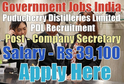 Puducherry Distilleries Limited PDL Recruitment 2017