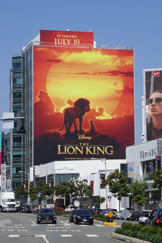 Lion King movie billboard