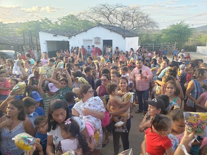 21° Edição da festa das crianças é realizada na Comunidade de Lages em Vertente do Lério.