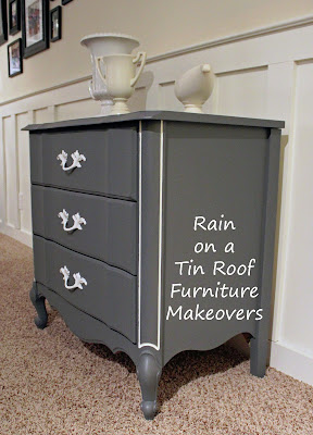 DIY Chalk Paint French Country Chest Makeover {rainonatinroof.com} #DIY #Makeover #Chalkpaint #french #country