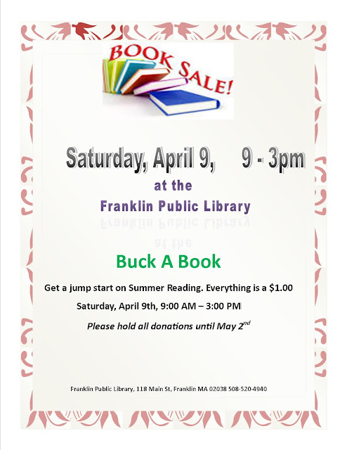 Buck a book - book sale - Apr 9