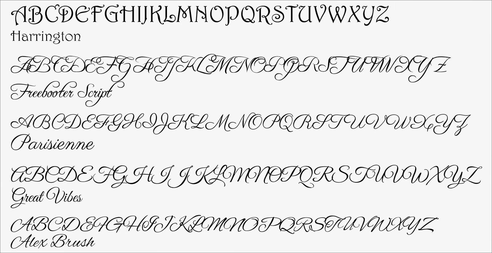 Cadillac cursive font generator