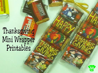 Thanksgiving Mini Wrapper Printable by Kims Kandy Kreations