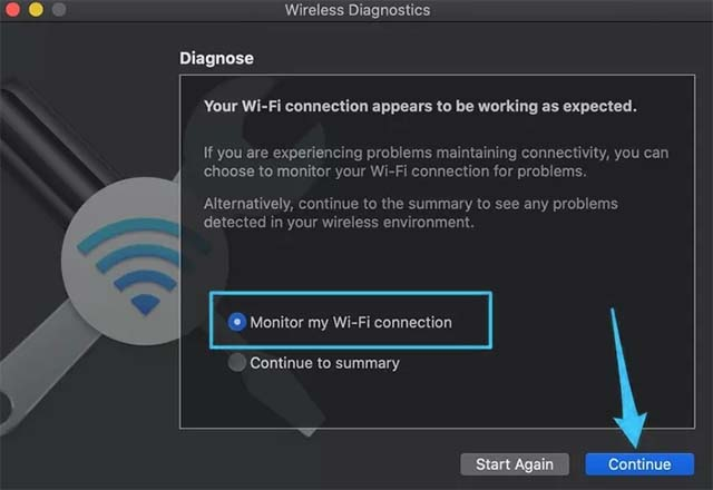 Monitor my Wi-Fi connection