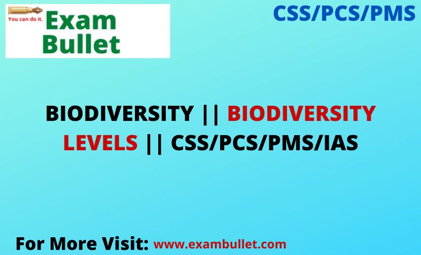 BIODIVERSITY    BIODIVERSITY LEVELS    CSS/PCS/PMS/IAS