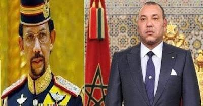 """الملك محمد السادس نصره الله  يتمنى الوئام لشعب """"بروناي دار السلام"""""""