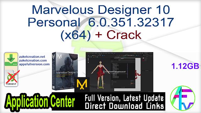Marvelous Designer 10 Personal 6.0.351.32317 (x64) + Crack