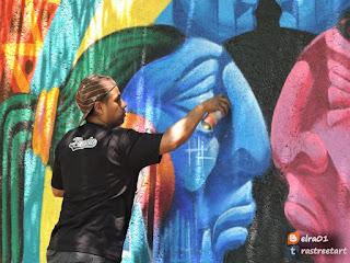 Facultad de Ciencias Políticas y Sociales evento de graffiti