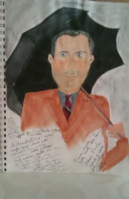 Another sketch of Prince Charles by Gloria Poole