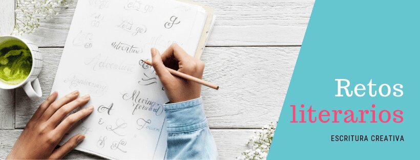 Cartel de retos de escritura creativa