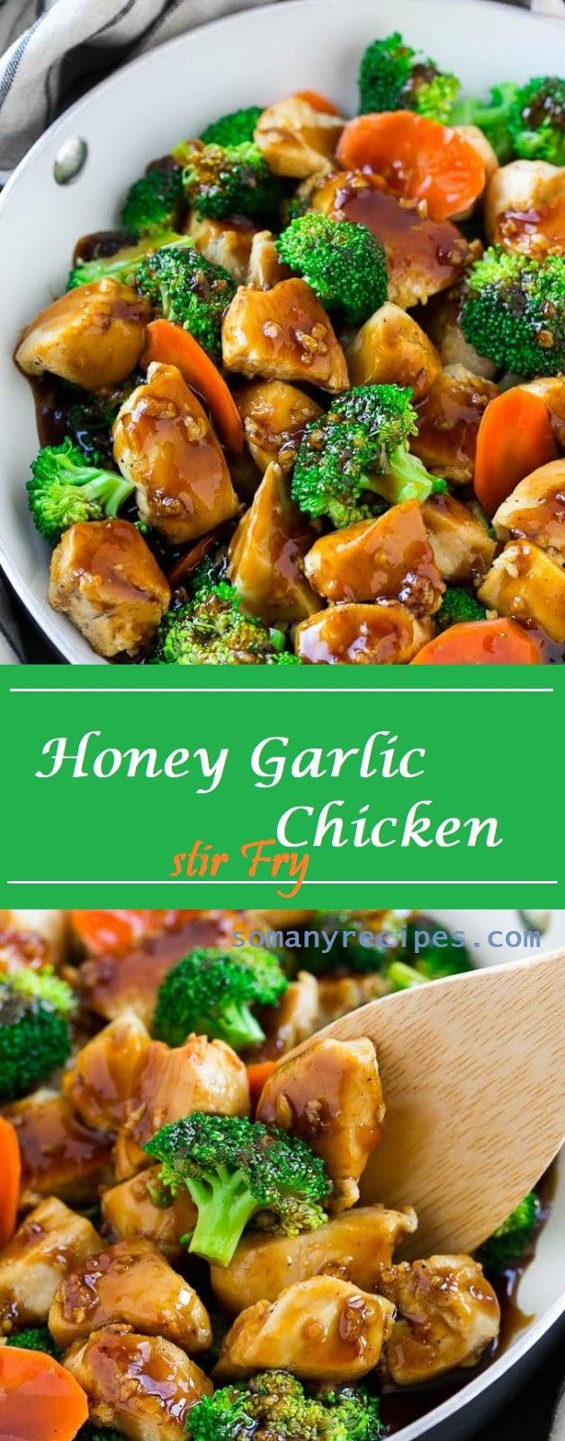 Delicious Honey Garlic Chicken Stir Fry Recipe