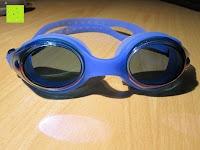 vorne: »Snake« Schwimmbrille, 100% UV-Schutz + Antibeschlag. Starkes Silikonband + stabile Box. TOP-MARKEN-QUALITÄT! Große Farbauswahl.