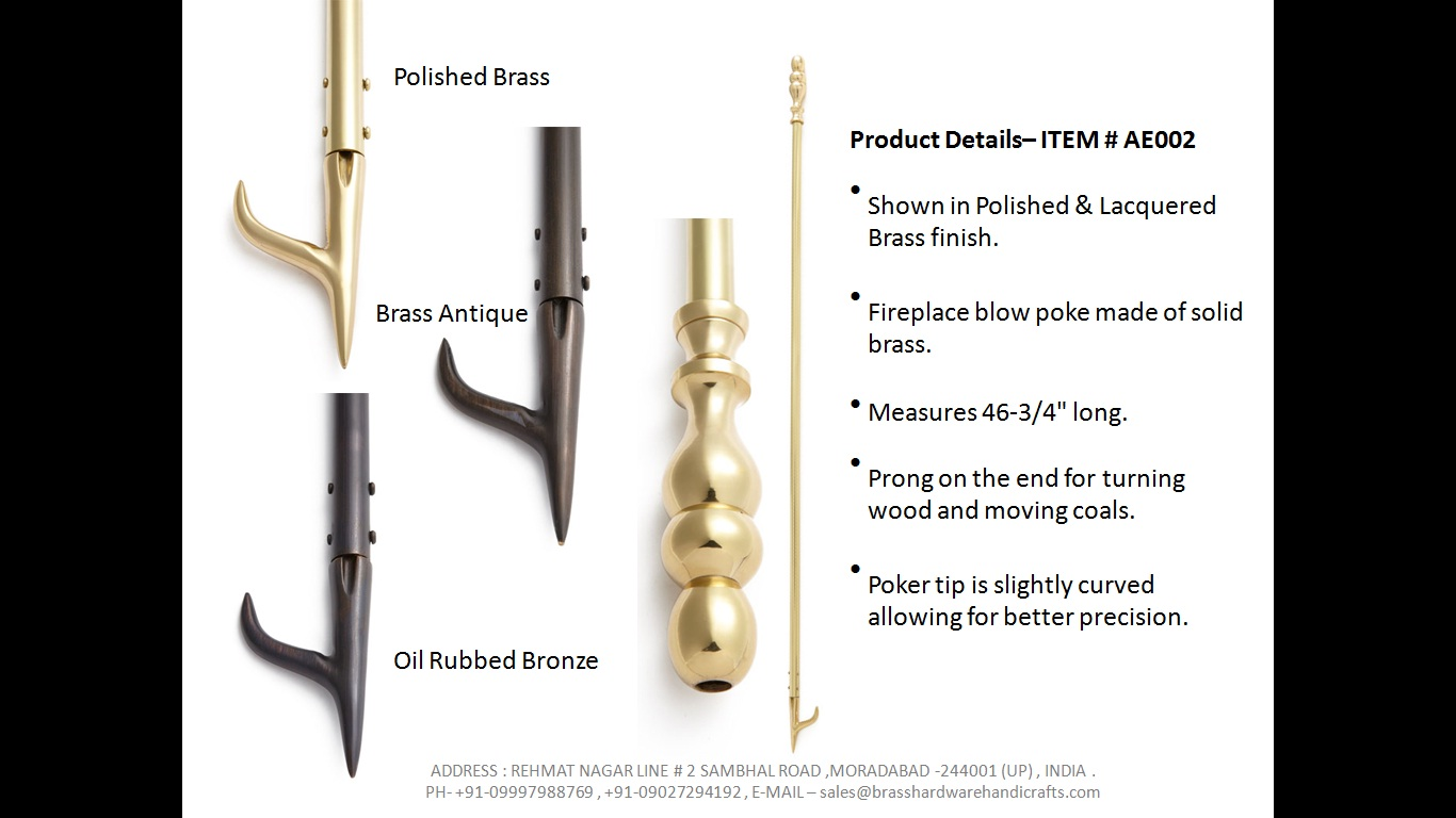 Acme Exports Brass And Iron Blow Poke Manufacturer Solid Brass