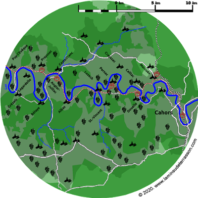 Map of the vineyards.
