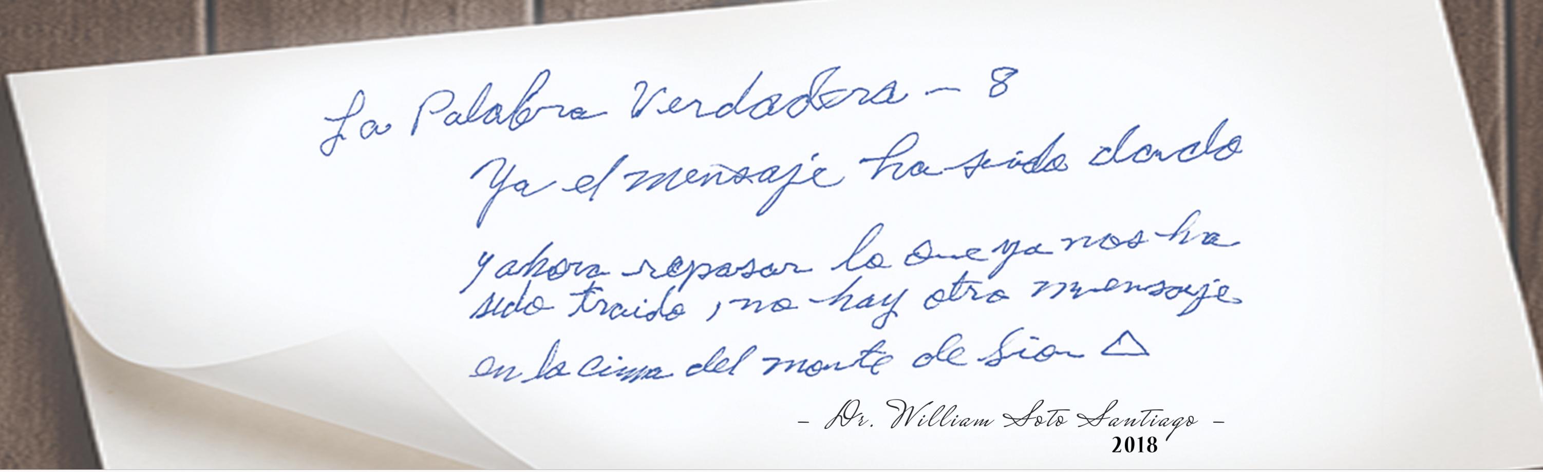 El último mensaje para este tiempo ya fue dado, ahora es tiempo de repasar. Dr. William Soto Santiago