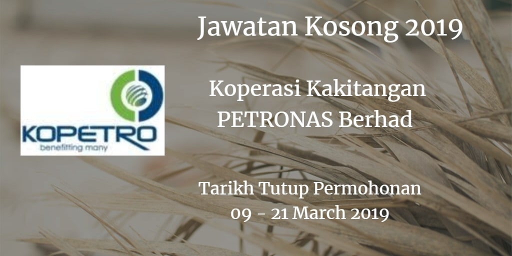 Jawatan Kosong KOPETRO 09 - 21 March 2019