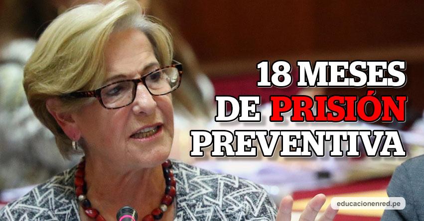 SUSANA VILLARÁN: Poder Judicial dicta 18 Meses de Prisión Preventiva contra la exalcaldesa de Lima [FOTO - VIDEO]