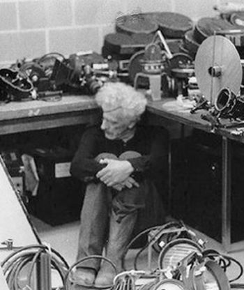Nicholas Ray during editing of The Janitor