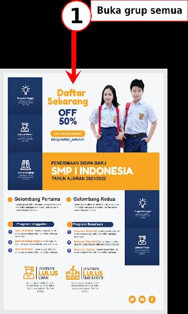 Brosur Sekolah : Download Kumpulan Brosur Penermaan Siswa Baru SMP Gratis