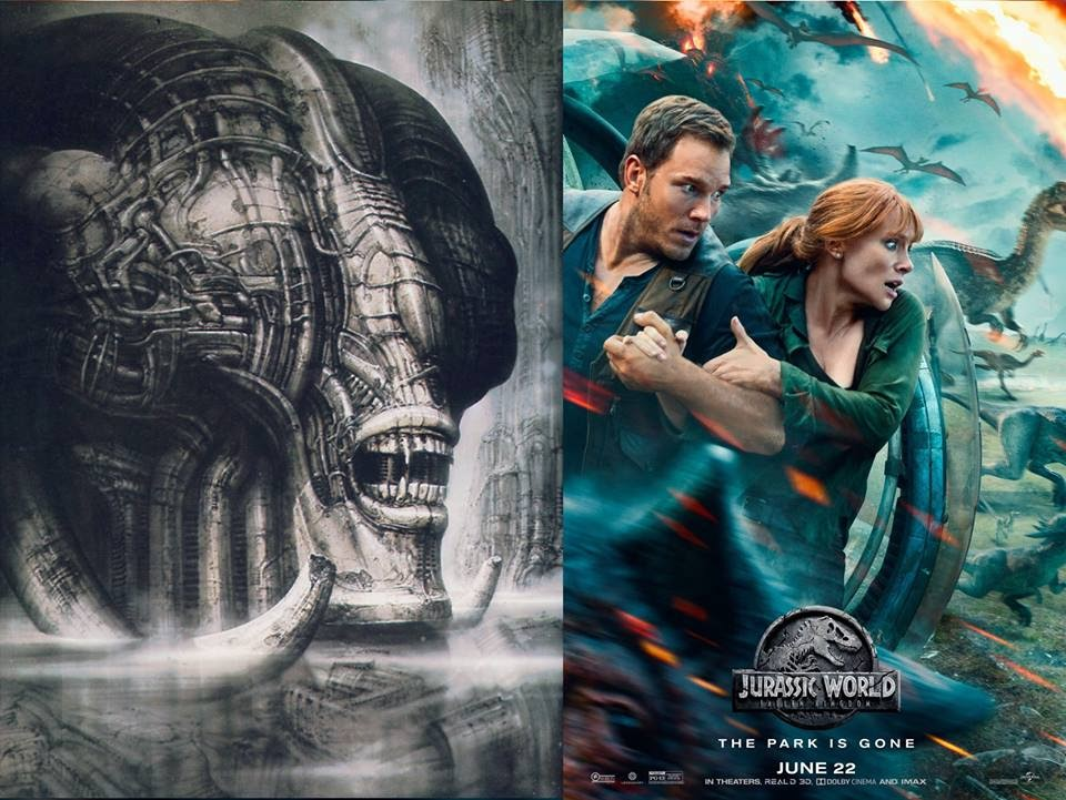 Alien Explorations: Jurassic World: Fallen kingdom poster references