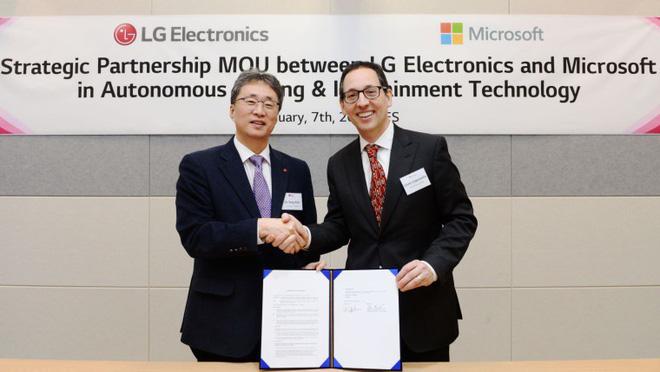 Microsoft và LG ký ghi nhớ cùng phát triển công nghệ ô tô