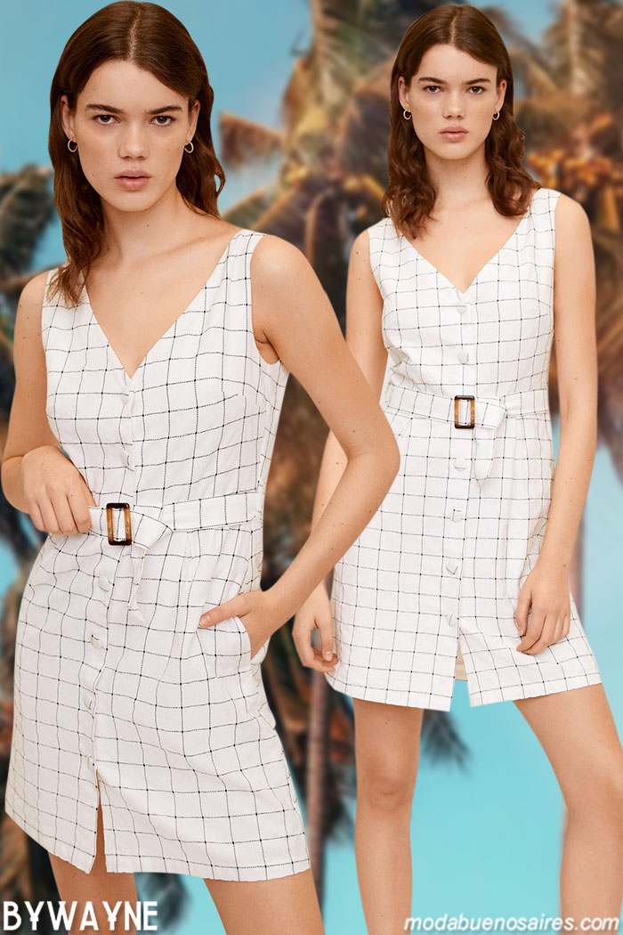 vestidos de primavera verano 2021 a cuadros