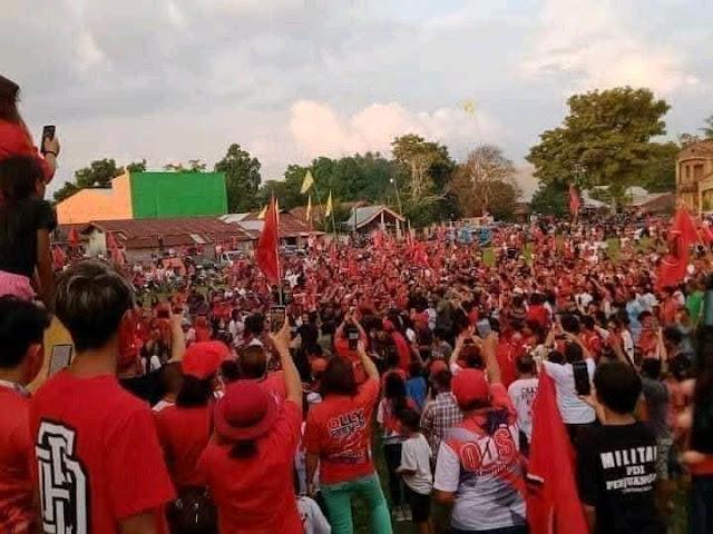 Geger Kerumunan Massa pada Acara Cagub PDIP Sulut, Netizen: Yang Ini Mah Bebas