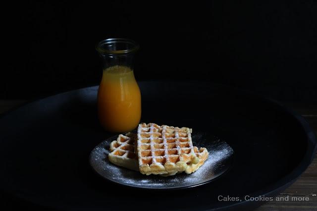 Cake Waffeln zum Frühstück