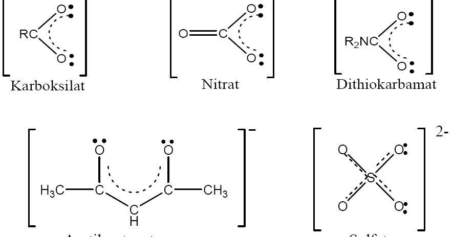 Contoh Ligan Monodentat, Bidentat, Polidentat, Senyawa