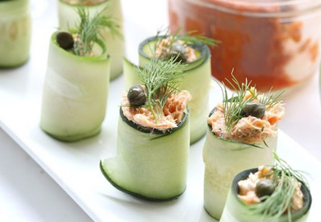 Smoked Salmon Cucumber Appetizer #healthy #appetizers