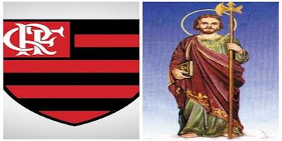 imagem do São Judas Tadeu e Flamengo