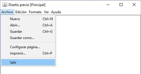 Menú bloc de notas en Java netbeans