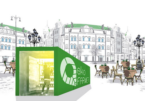 Tinuku EkoFARMER urban agricultural module design by Exsilio