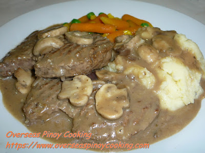 Salisbury Steak, Burger Steak with Mushroom Sauce Recipe