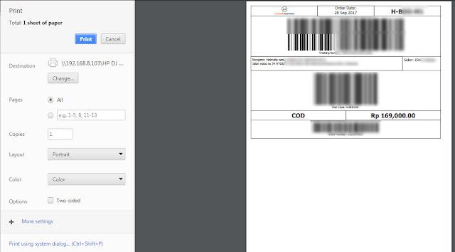 Cara memperkecil invoice Tokopedia