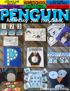 Penguin activities were created with preschool in mind. This unit would also work well in a kindergarten classroom. The boys and girls will learn important math, literacy and book comprehension concepts, strategies and skills through book/fact centered lessons and activities.