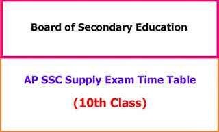 AP 10th Class Supplementary Exam Time Table 2021