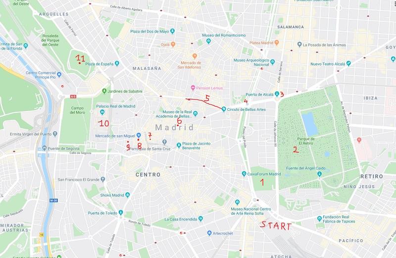 Itinerario di un giorno per visitare Madrid